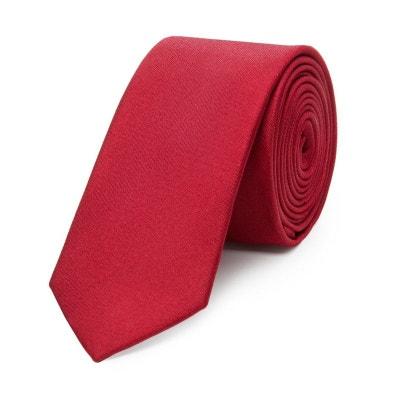8607e6214b786 Cravate fine en pure soie lisse Cravate fine en pure soie lisse BRUCE FIELD