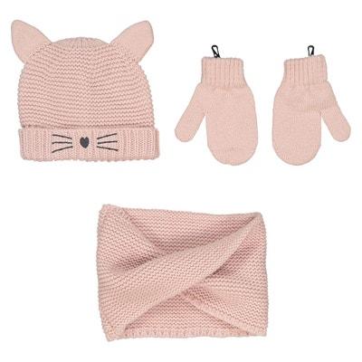 Ensemble bonnet + gants + écharpe 0 mois - 3 ans Ensemble bonnet + gants + 241913c5371