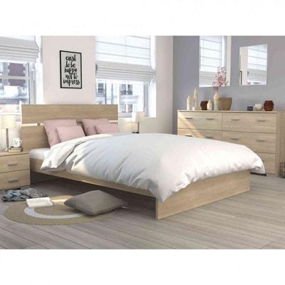 cadre de lit bois naturel la redoute. Black Bedroom Furniture Sets. Home Design Ideas