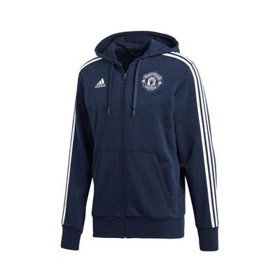 Veste à capuche Manchester United 3-Stripes Bleu Veste à capuche Manchester  United 3-. adidas Performance a07c230abcb