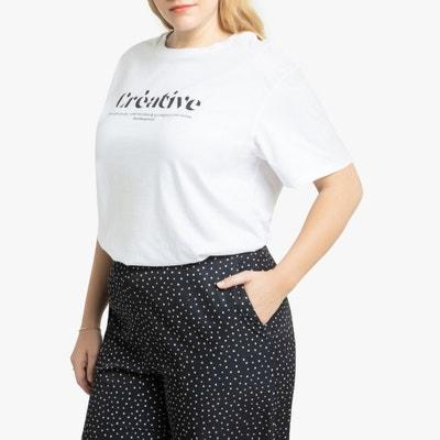 T-shirt met ronde hals en tekst T-shirt met ronde hals en tekst LA REDOUTE COLLECTIONS PLUS