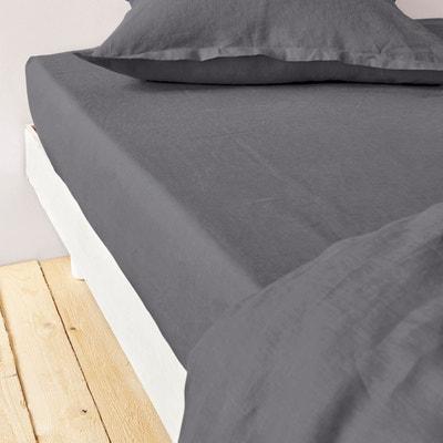 drap housse gris anthracite la redoute. Black Bedroom Furniture Sets. Home Design Ideas