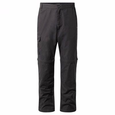 imperm/éable CQR Pantalon cargo convertible pour homme pantalon de travail dext/érieur fermeture /éclair UPF 50+ l/éger stretch pantalon de randonn/ée