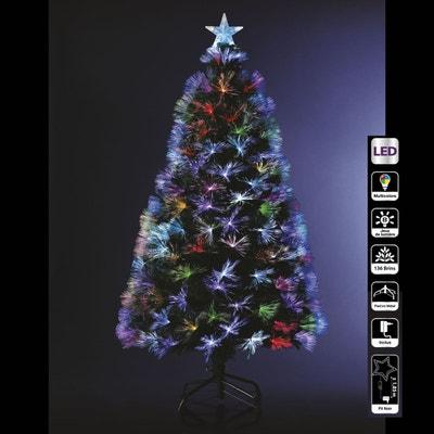 41f9470675699 Sapin de Noël artificiel à LED multicolores Bouquet - H. 120 cm - Vert Sapin