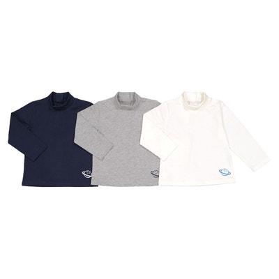 9736ff808ef7b Lot de 3 t-shirts manches longues 1 mois - 3 ans LA REDOUTE COLLECTIONS