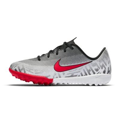 pretty nice efd82 d07b1 Chaussures football Nike MercurialX Vapor XII Silencio Academy NeymarTF  Blanc Noir Junior NIKE