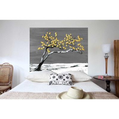 Tête de lit en tissu Renaissance Jaune, fixation murale MADEMOISELLE TISS 98573071c423