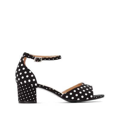 71012809955ae4 Wide Fit Polka Dot Sandals CASTALUNA PLUS SIZE