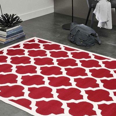 Tapis Rouge Et Gris Moderne La Redoute