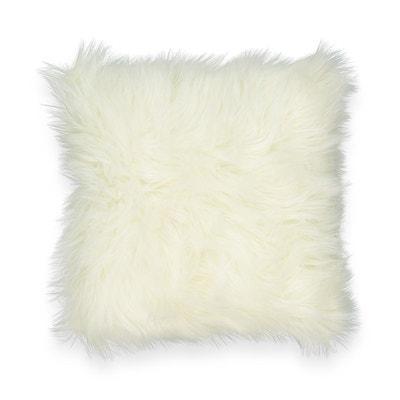 Coussin fourrure blanc | La Redoute
