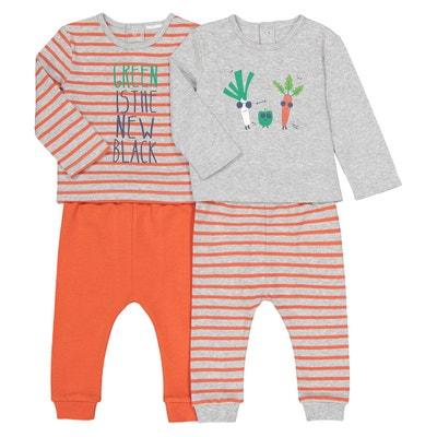 5c3768043fd8d Lot de 2 pyjamas thème légumes
