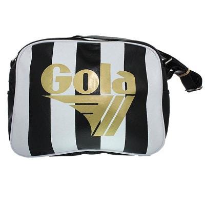 0acd52fd38d43 Gola Redford : sac besace noir et blanc logo doré Gola Redford : sac besace  noir