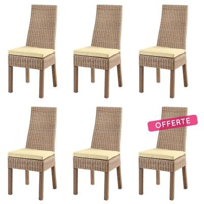 lot chaises rotin la redoute. Black Bedroom Furniture Sets. Home Design Ideas