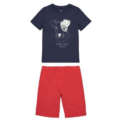 102c14f26a754 Pyjashort imprimé phosphorescent 3 ans - 12 ans LA REDOUTE COLLECTIONS