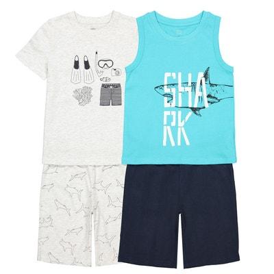 2ba72092c0c62 Lot de 2 pyjashorts 3 ans-12 ans LA REDOUTE COLLECTIONS