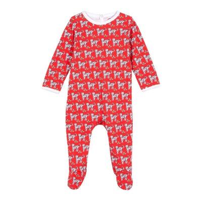 621a51af1c3fa Pyjama bébé en coton bio - Imprimé Tigre Rouge - Edition Limitée Pyjama bébé  en coton
