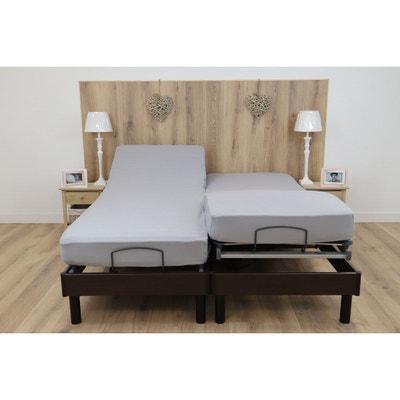 Drap housse pour lit articule gris blanc | La Redoute