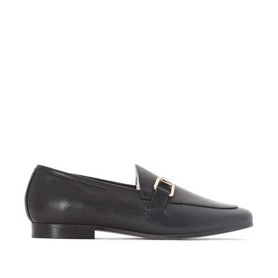 Slippers à noeuds et bouts pointus en cuir Noir by JONAK