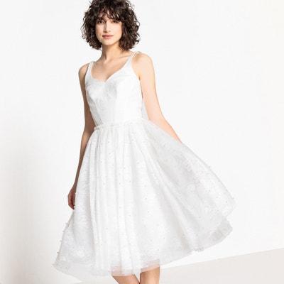090dd56c288 Платье свадебное расклешенное из кружева с бусинами Платье свадебное  расклешенное из кружева с бусинами LA REDOUTE