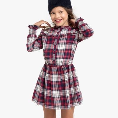Geruite jurk met lange mouwen 3-12 jaar Geruite jurk met lange mouwen 3-12 jaar LA REDOUTE COLLECTIONS
