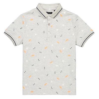 165d2ca41 Printed Short-Sleeved Polo Shirt, 4-14 Years IKKS JUNIOR