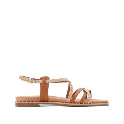 6d035aa0a79 Sandales en cuir Sandales en cuir LA REDOUTE COLLECTIONS