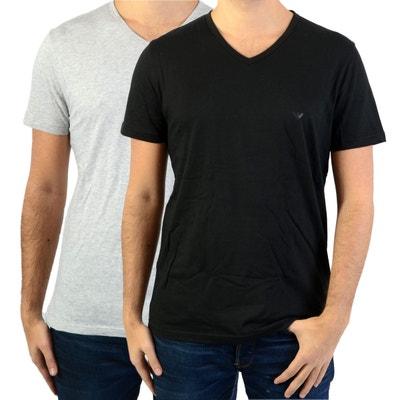 T shirt emporio armani underwear noir en solde   La Redoute 2cf3f7830f2
