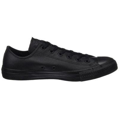 chaussures converse homme cuir noir