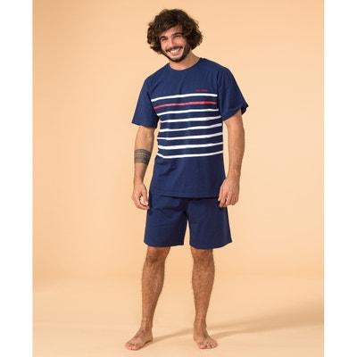 Gestreepte pyjashort met korte mouwen, Papa Marin Gestreepte pyjashort met korte mouwen, Papa Marin DODO