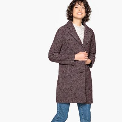 b701de8222e Пальто свободного покроя с зигзагообразным рисунком из полушерстяной ткани LA  REDOUTE COLLECTIONS