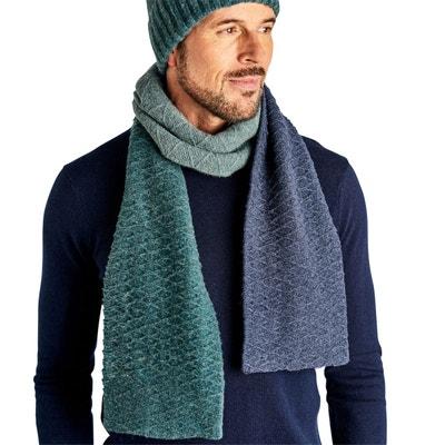 2be54fb2e083 Écharpe colour block laine d agneau WOOLOVERS
