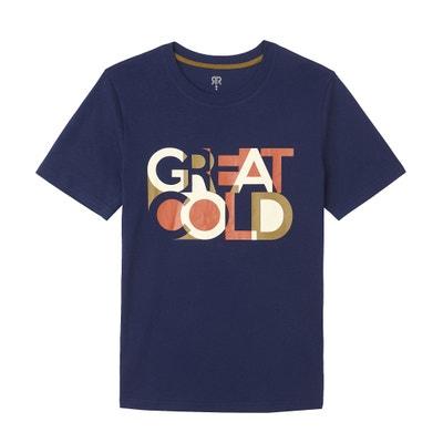 T-shirt met ronde hals, korte mouwen en print T-shirt met ronde hals, korte mouwen en print LA REDOUTE COLLECTIONS