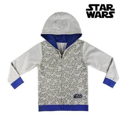 ca418521f0d0a Sweat à capuche enfant Star Wars 72319 Gris Sweat à capuche enfant Star Wars  72319 Gris