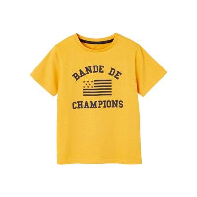 0377e02845a24 T-shirt garçon motif bande de champions T-shirt garçon motif bande de  champions