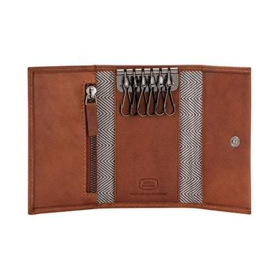 Antica Toscana Porte-clés pour homme en Cuir Véritable Italien à 6 crochets  avec bouton 1792ae1a0d1