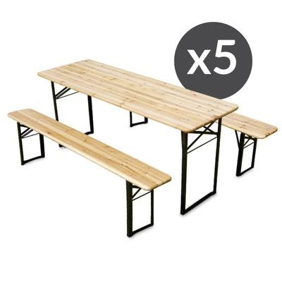 Banc et table en bois   La Redoute