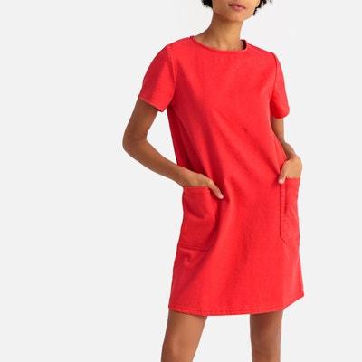 4a22d59b7b Denim Shift Dress with Patch Pockets Denim Shift Dress with Patch Pockets  LA REDOUTE COLLECTIONS