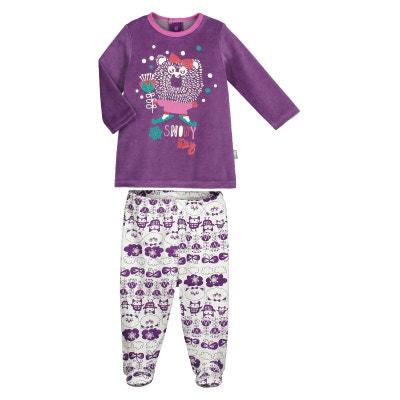 169ec271d79a6 Pyjama bébé 2 pièces avec pieds Snowyday PETIT BEGUIN