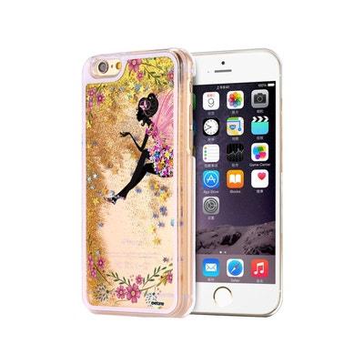 coque iphone xr transparente avec paillette