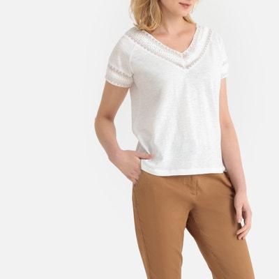 1a32d4c03fb1b7 Lace V-Neck T-Shirt Lace V-Neck T-Shirt ANNE WEYBURN