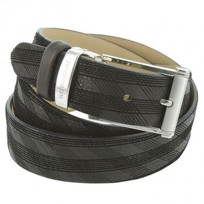 093660e8a602 ceinture en cuir surpiqure EMPORIO BALZANI