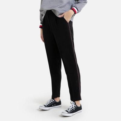 Slim broek met opgestikte band op de benen Slim broek met opgestikte band op de benen TOMMY HILFIGER