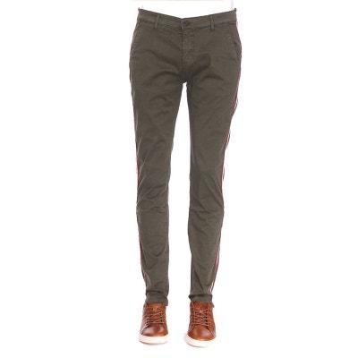 Pantalon chino Bandit en coton stretch kaki à bande contrastante DEELUXE 08e4b813f5e