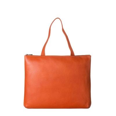 28c616acc716 Sac porté épaule pour Femme en Cuir souple Design Essentiel rectangulaire avec  Fermeture éclair Sac porté