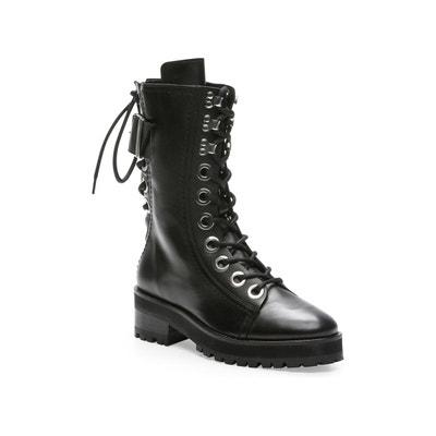 9c8f1af6baee7c Boots en cuir a larges boucles et oeillets THE KOOPLES