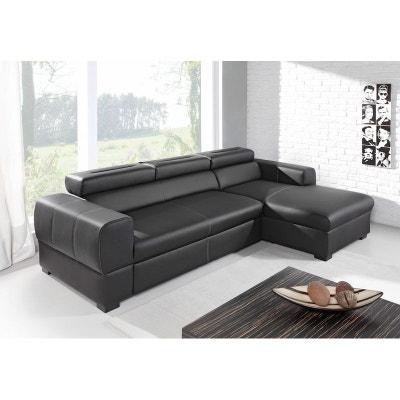 acheter en ligne 52f15 c698b Canape convertible cuir noir | La Redoute