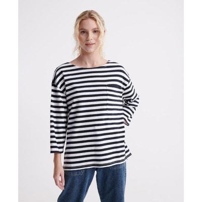 Superdry Maddie Graphic Ls Top T-Shirt /À Manches Longues Femme