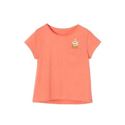ec28643c8349c T-shirt fille motif glace à sequins VERTBAUDET