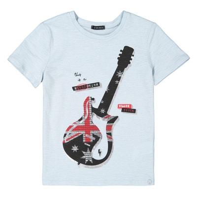 9b96241d68ea6 T-shirt imprimé guitare 4-14 ans T-shirt imprimé guitare 4-. IKKS JUNIOR