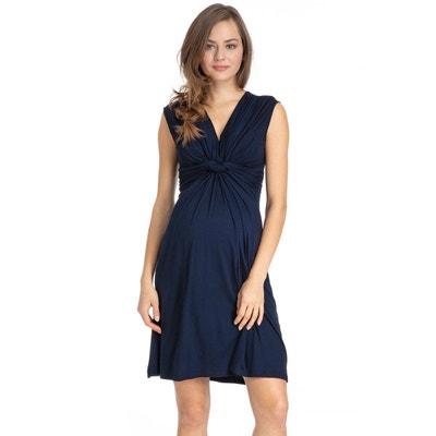 6e09a4df10 Papaver robe de grossesse noeud devant en jersey PIETRO BRUNELLI MATERNITY